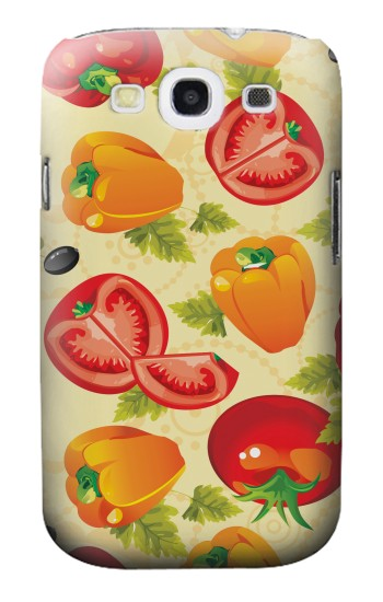 Printed Seamless Food Vegetable Samsung Galaxy S3 Case
