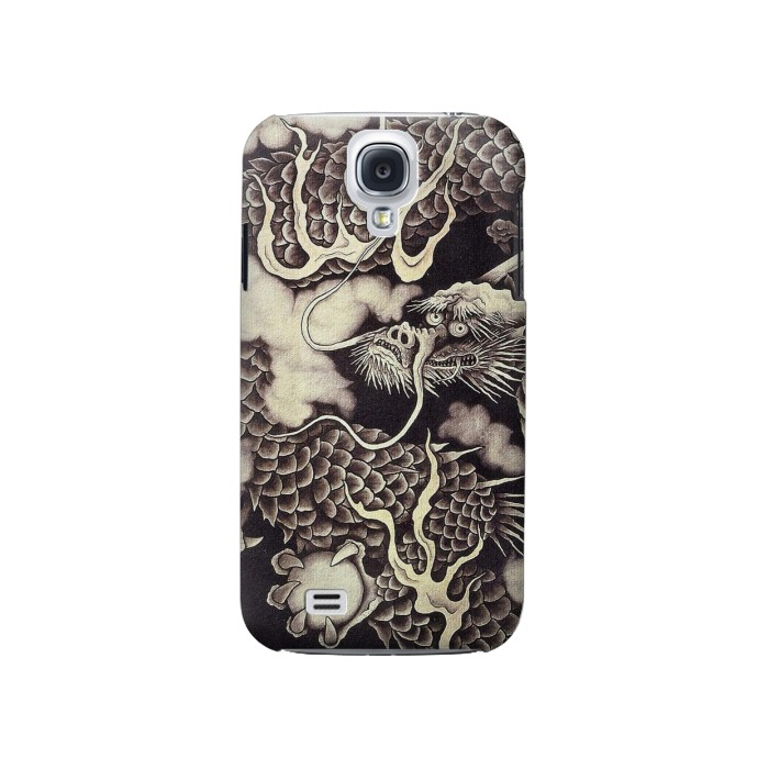 Printed Japan Painting Dragon Samsung Galaxy S4 Case