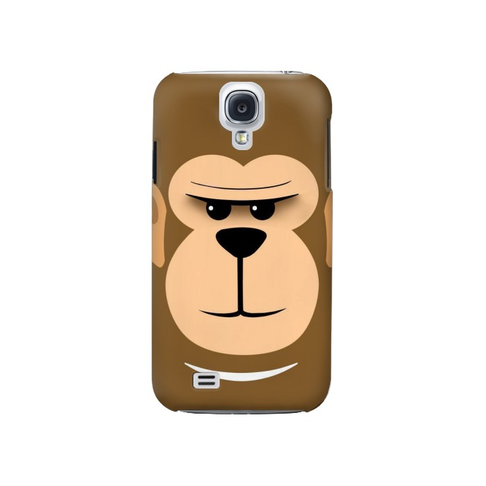 Printed Cute Monkey Cartoon Face Samsung Galaxy S4 Case