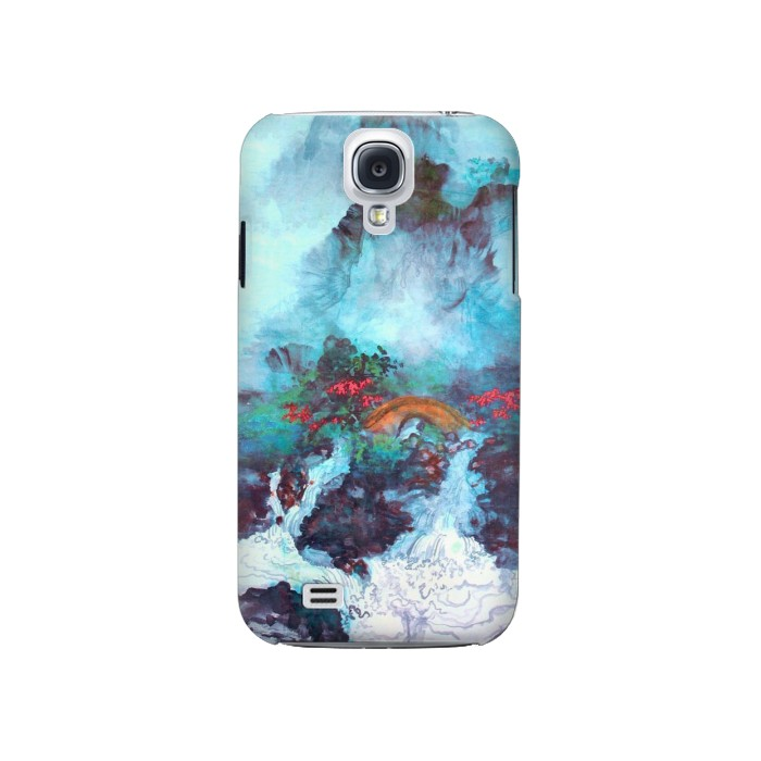 Printed White Dragon Pool Lui Haisu Samsung Galaxy S4 Case