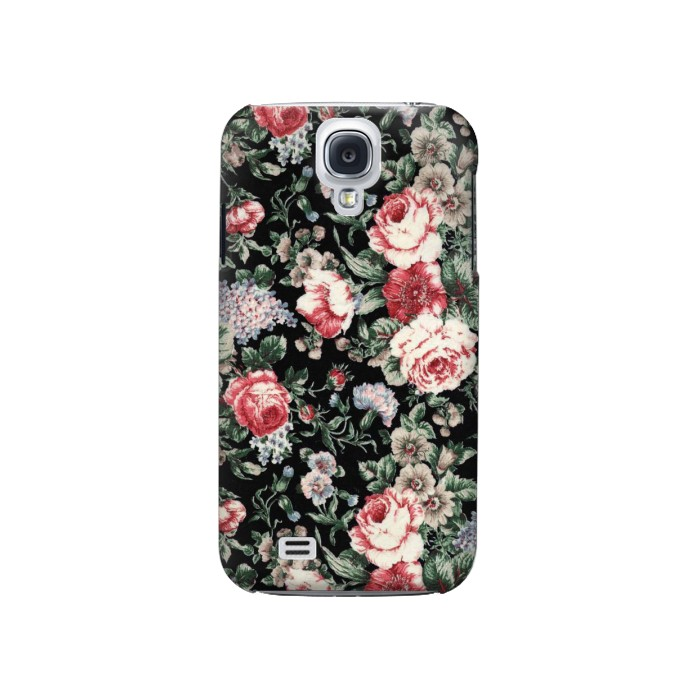 Printed Vintage Rose Pattern Samsung Galaxy S4 Case