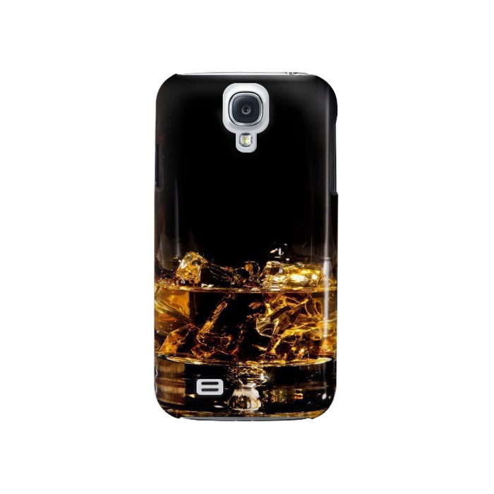 Printed Ice Whiskey Glass Samsung Galaxy S4 Case