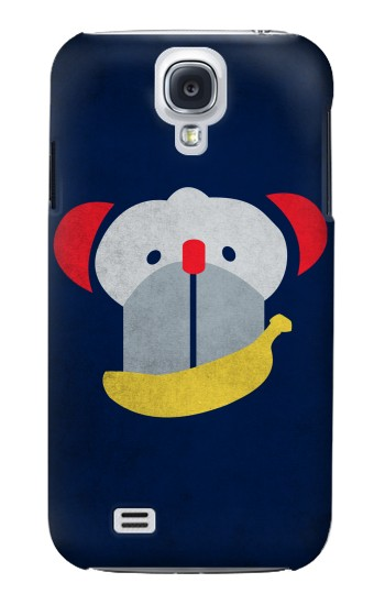 Printed Smiley Monkey Banana Minimalist Samsung Galaxy S4 Case