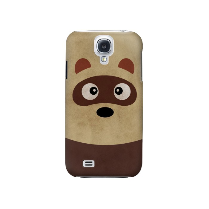Printed Cute Cartoon Raccoon Samsung Galaxy S4 Case