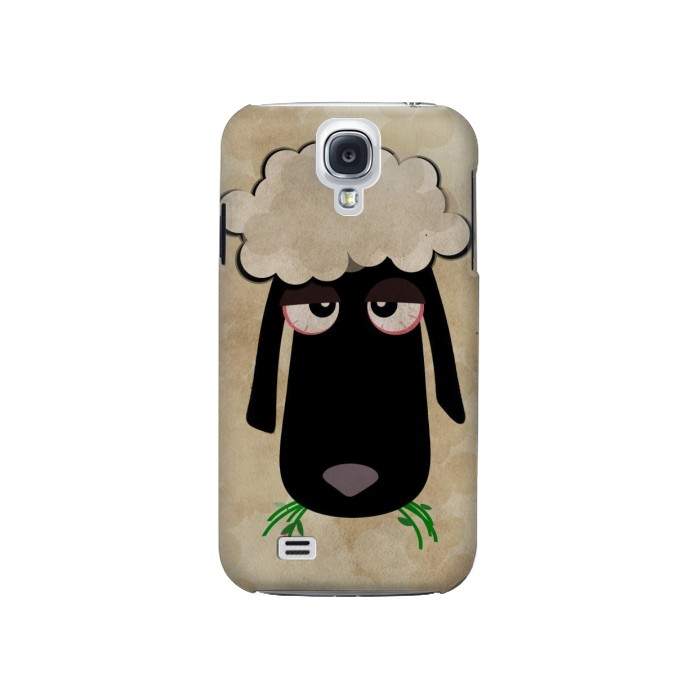 Printed Cute Cartoon Unsleep Black Sheep Samsung Galaxy S4 Case