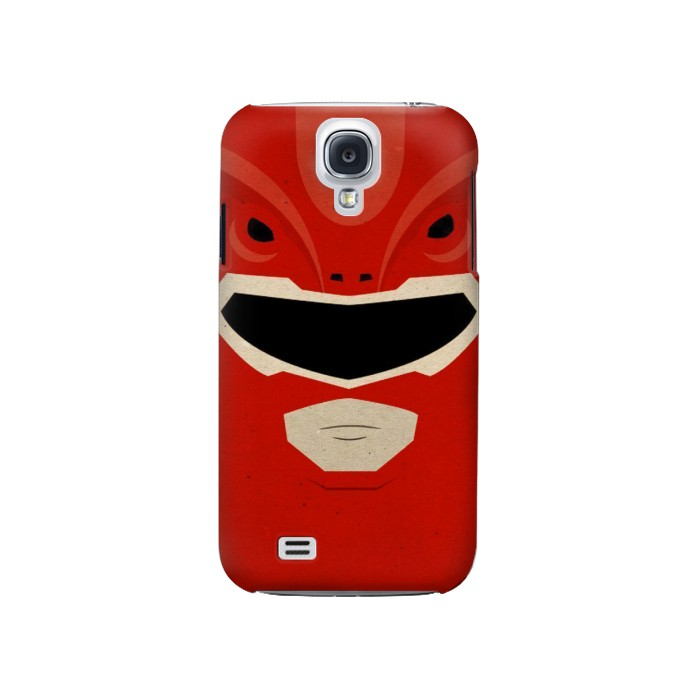 Printed Power Ranger Red Minimalist Samsung Galaxy S4 Case
