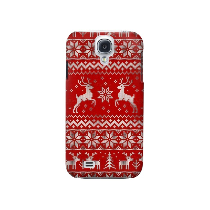 Printed Christmas Reindeer Knitted Pattern Samsung Galaxy S4 Case