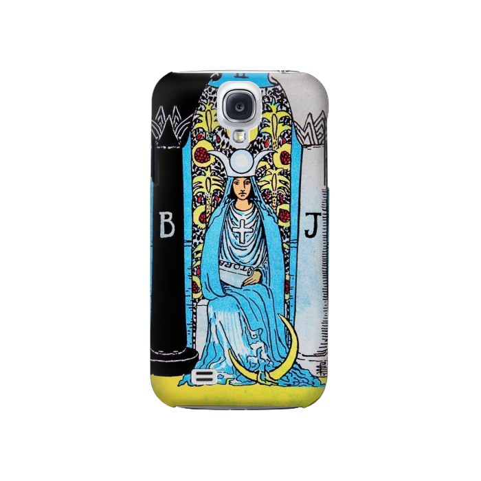 Printed The High Priestess Vintage Tarot Card Samsung Galaxy S4 Case