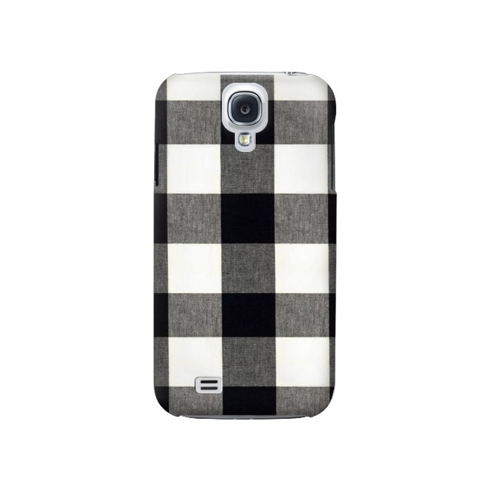 Printed Black and White Buffalo Check Pattern Samsung Galaxy S4 Case