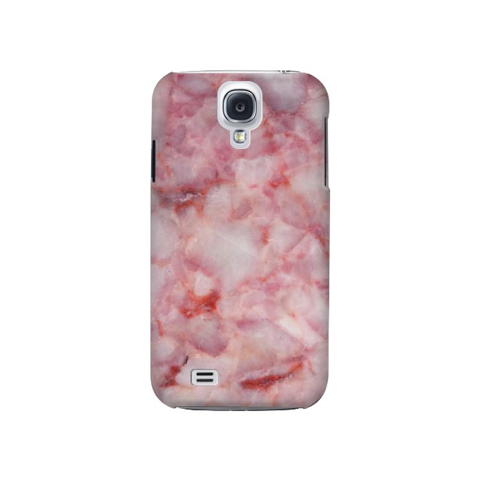 Printed Pink Marble Texture Samsung Galaxy S4 Case