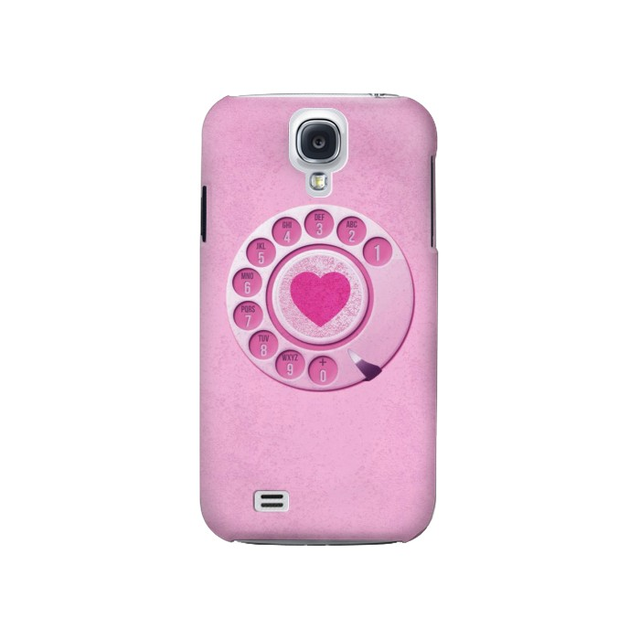 Printed Pink Retro Rotary Phone Samsung Galaxy S4 Case