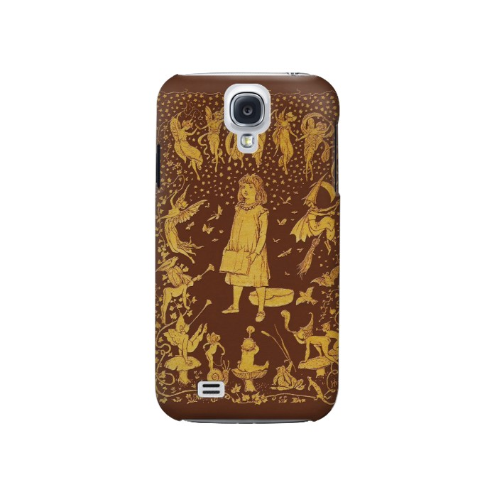 Printed Brown Fairy Book Cover Samsung Galaxy S4 Case