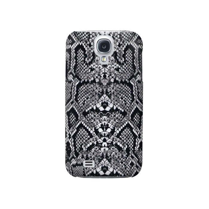 Printed White Rattle Snake Skin Samsung Galaxy S4 Case
