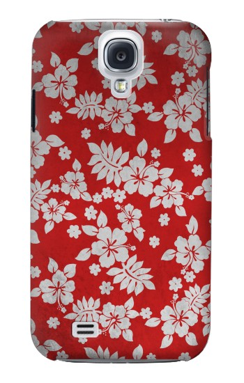 Printed Vintage Red Hawaiian Flower Pattern Samsung Galaxy S4 Case