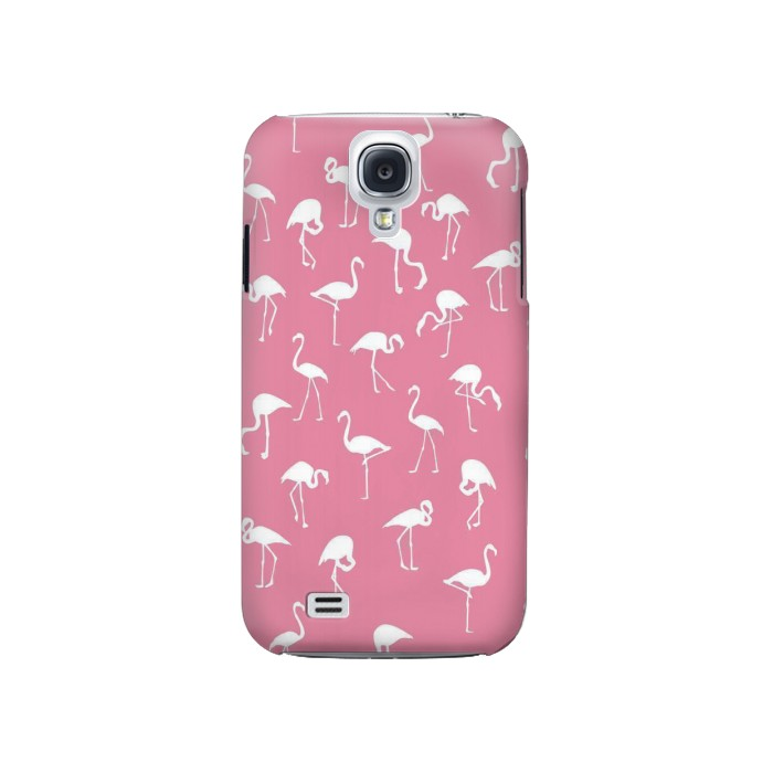 Printed Pink Flamingo Pattern Samsung Galaxy S4 Case