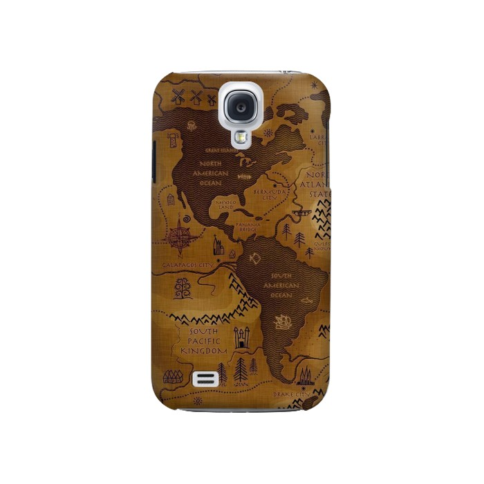 Printed Antique Style Map Samsung Galaxy S4 Case