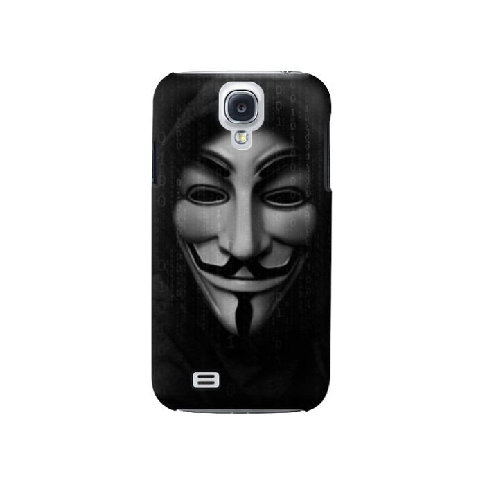 Printed Matrix Anonymous Mask Hacker Samsung Galaxy S4 Case
