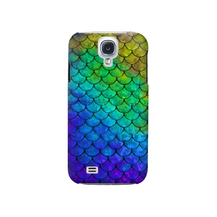Printed Mermaid Fish Scale Samsung Galaxy S4 Case