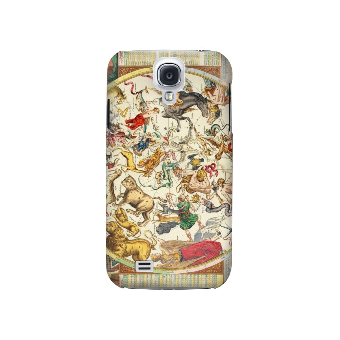 Printed Antique Constellation Map Samsung Galaxy S4 Case