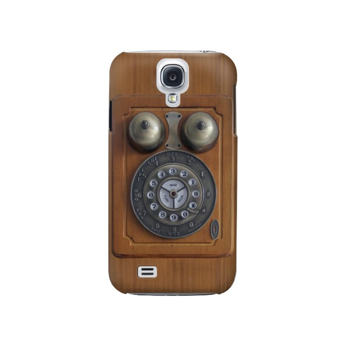 Printed Antique Wall Phone Samsung Galaxy S4 Case