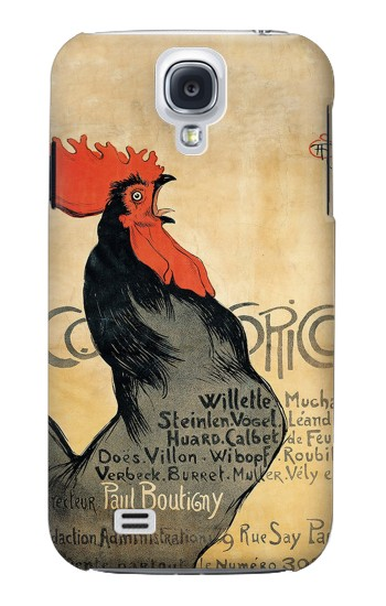 Printed Cocorico Rooster Vintage French Poster Samsung Galaxy S4 Case