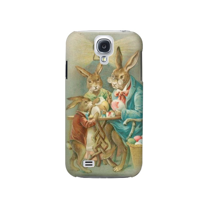 Printed Easter Rabbit Family Samsung Galaxy S4 Case