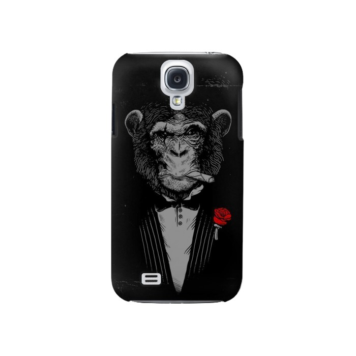 Printed Funny Monkey God Father Samsung Galaxy S4 Case