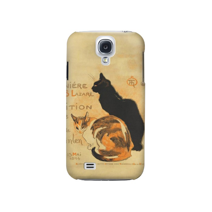 Printed Vintage Cat Poster Samsung Galaxy S4 Case