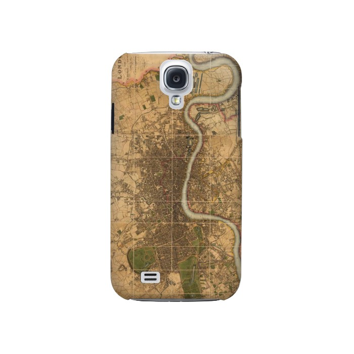 Printed Vintage Map of London Samsung Galaxy S4 Case