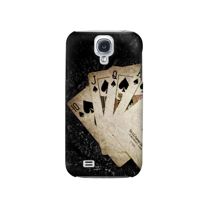 Printed Vintage Royal Straight Flush Cards Samsung Galaxy S4 Case