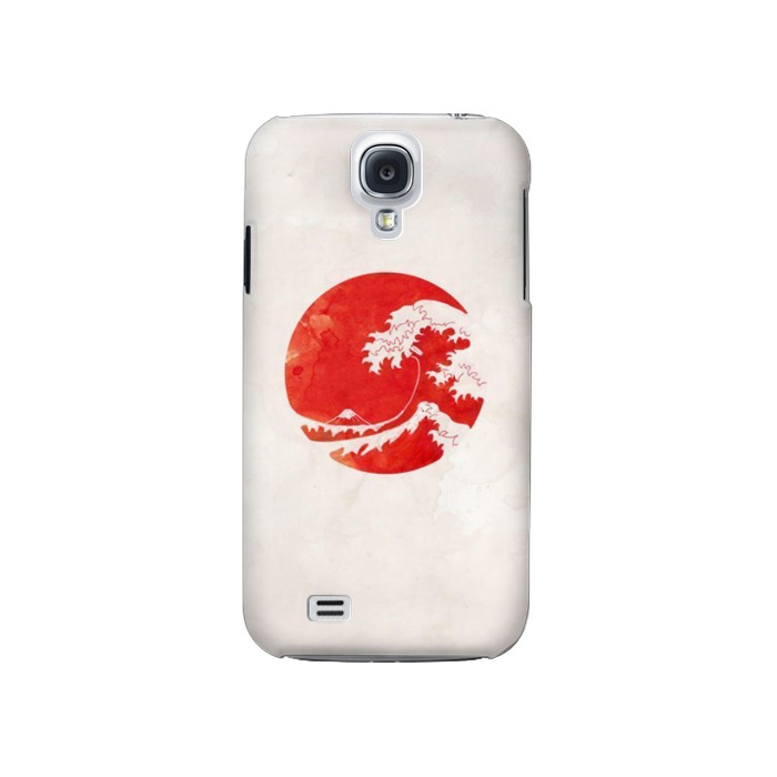 Printed Waves Japan Flag Samsung Galaxy S4 Case