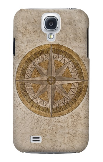 Printed Windrose Circle Stamp Samsung Galaxy S4 Case