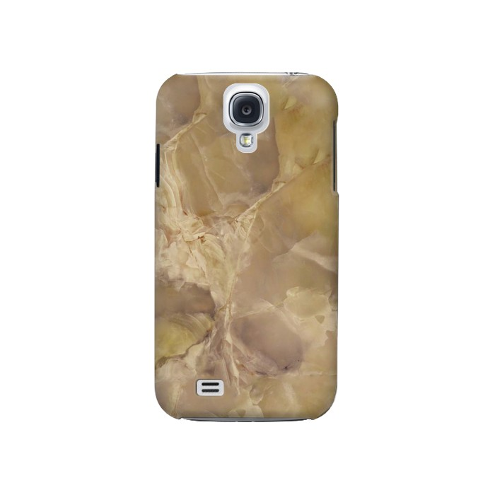 Printed Yellow Marble Stone Samsung Galaxy S4 Case
