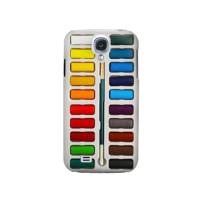 Printed Watercolor Paint Set Samsung Galaxy S4 Case