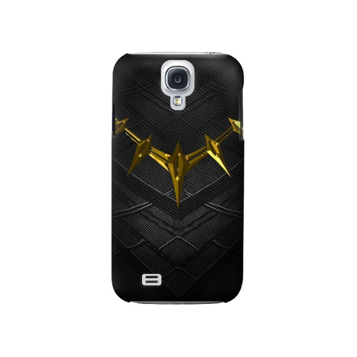 Printed Black Panther Inspired Costume Gold Necklace Samsung Galaxy S4 Case