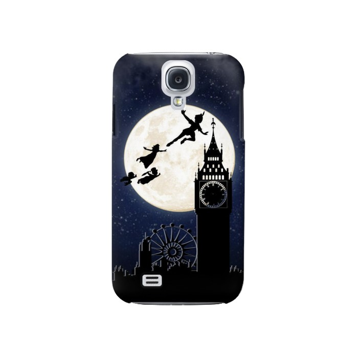 Printed Peter Pan Fly Fullmoon Night Samsung Galaxy S4 Case