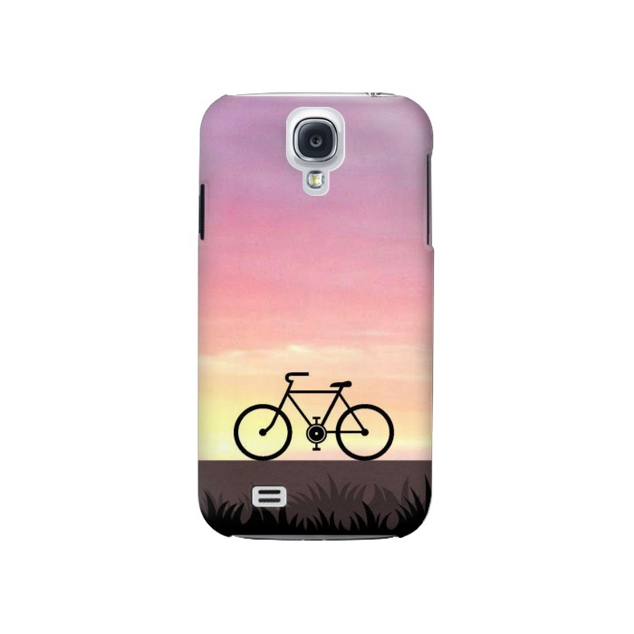 Printed Bicycle Sunset Samsung Galaxy S4 Case