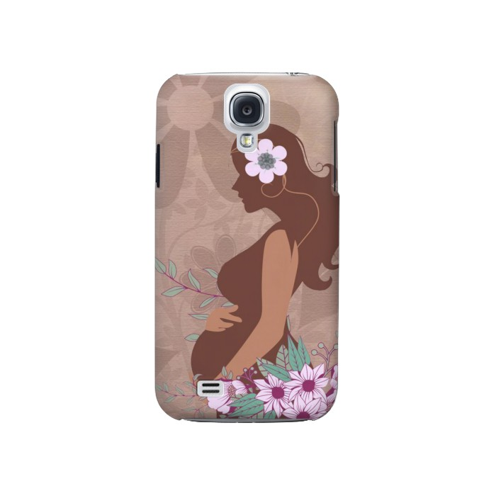 Printed Pregnant Mommy Baby Samsung Galaxy S4 Case