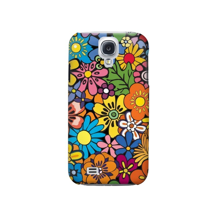 Printed Colorful Flowers Pattern Samsung Galaxy S4 Case