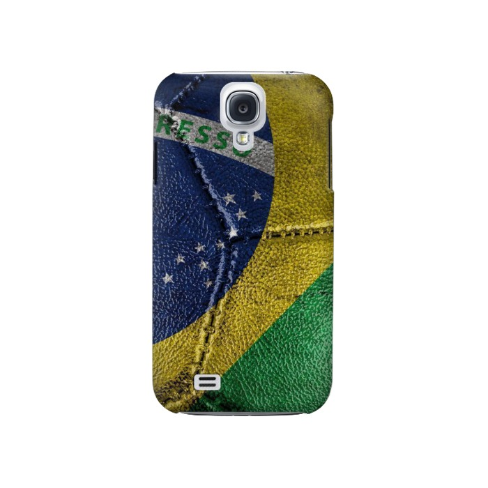 Printed Brazil Flag Vintage Football 2018 Samsung Galaxy S4 Case