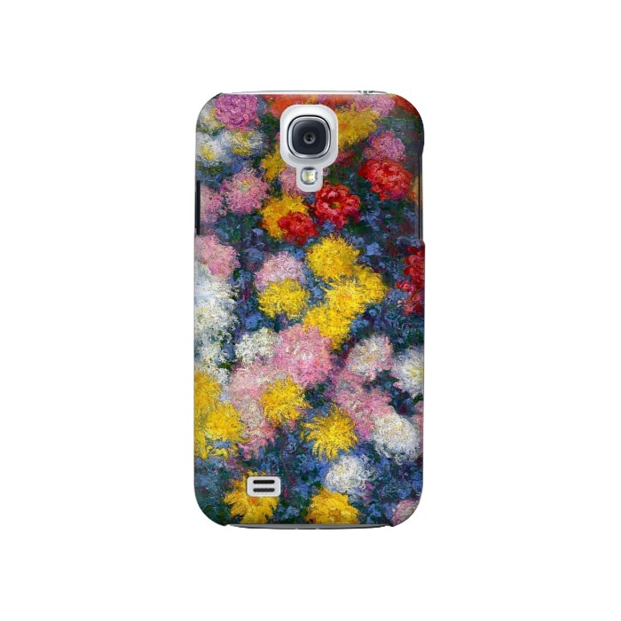 Printed Claude Monet Chrysanthemums Samsung Galaxy S4 Case