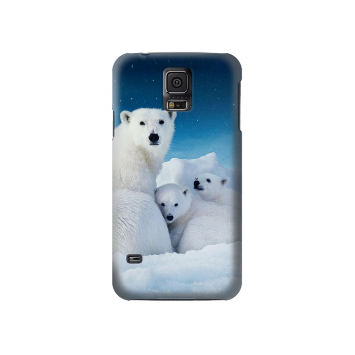 Printed Polar Bear Family Arctic Samsung Galaxy S5 Case