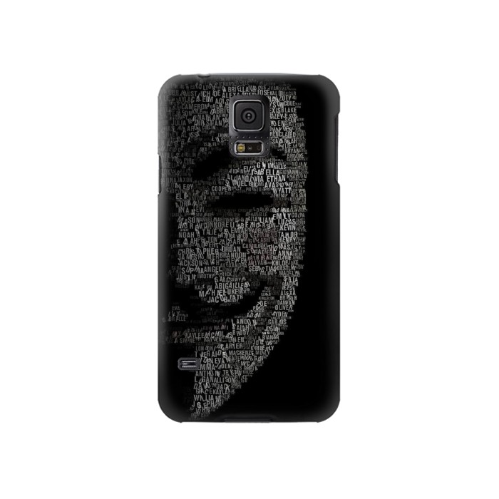 Printed V Mask Guy Fawkes Anonymous Samsung Galaxy S5 Case