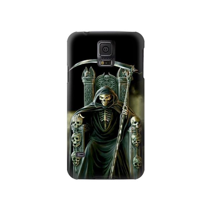 Printed Grim Reaper Skeleton King Samsung Galaxy S5 Case