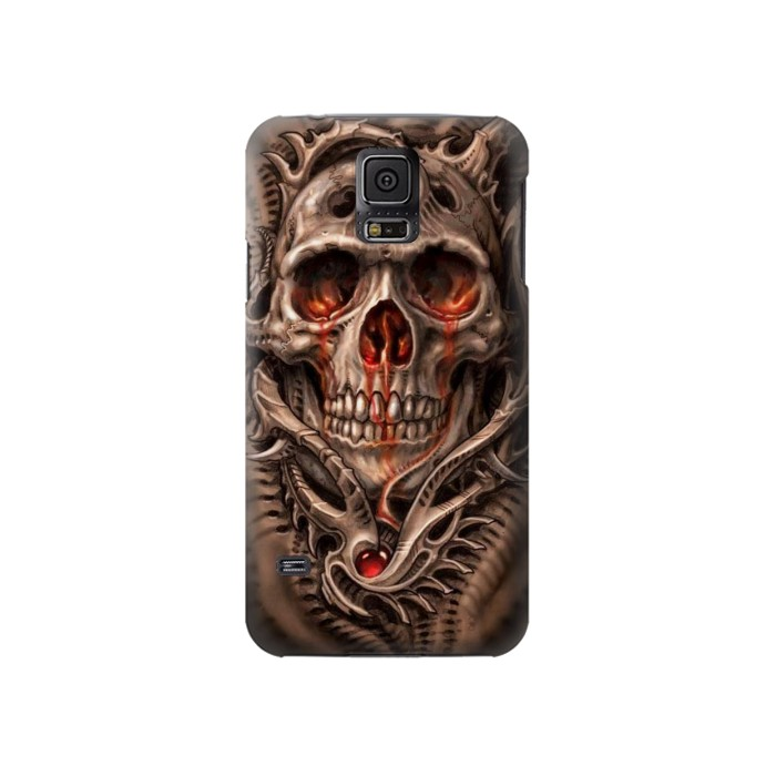 Printed Skull Blood Tattoo Samsung Galaxy S5 Case