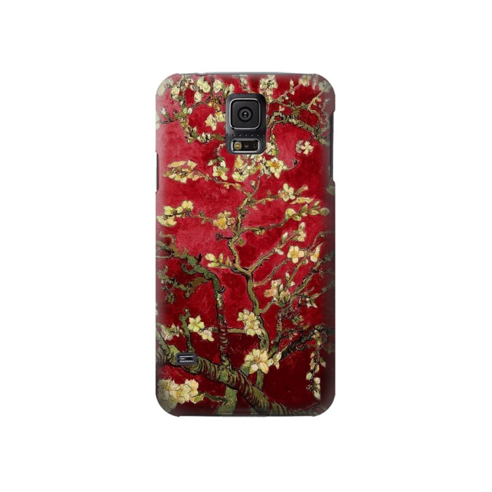 Printed Red Blossoming Almond Tree Van Gogh Samsung Galaxy S5 Case