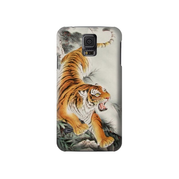 Printed Chinese Tiger Tattoo Painting Samsung Galaxy S5 Case