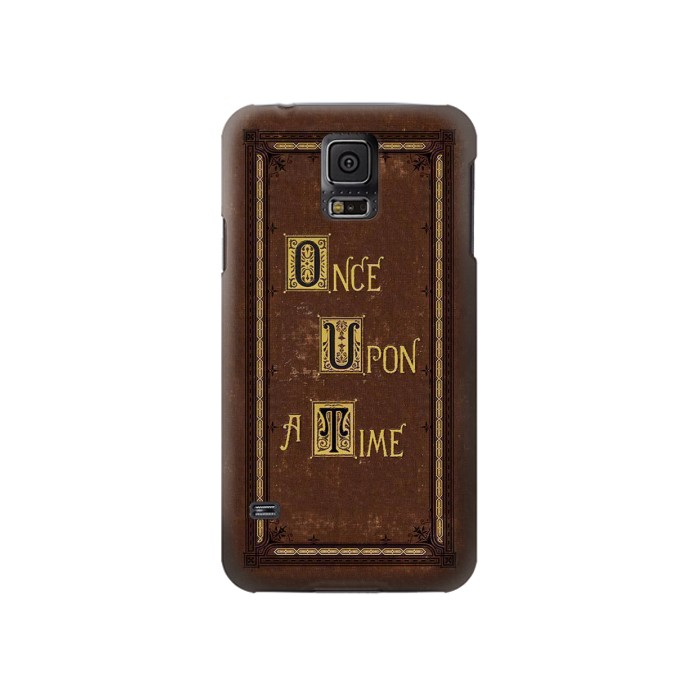 Printed Once Upon a Time Book Cover Samsung Galaxy S5 Case