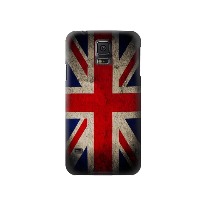 Printed Vintage British Flag Samsung Galaxy S5 Case