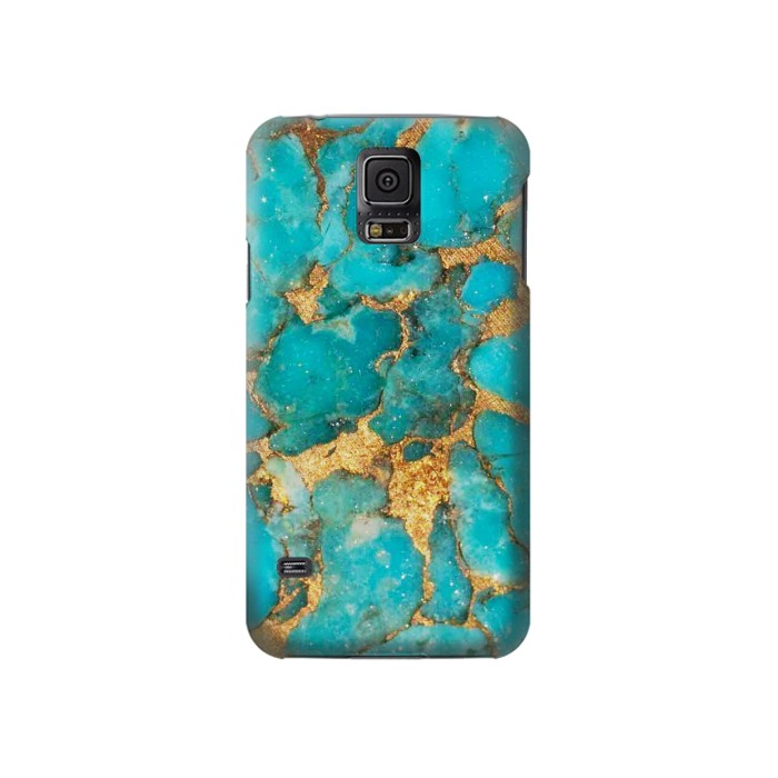 Printed Aqua Turquoise Stone Samsung Galaxy S5 Case